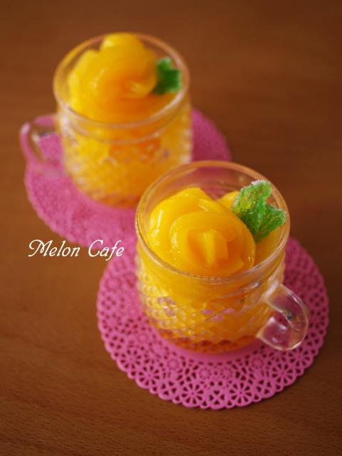 黄桃の贅沢ソルベ缶詰で簡単にひんやりシャーベット