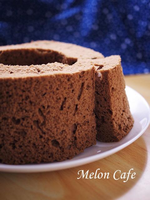 レンジとHMで簡単チョコレートシフォンケーキa