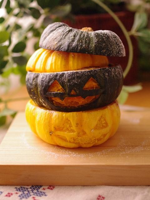 ハロウィンかぼちゃのまるごとクリームチーズケーキ