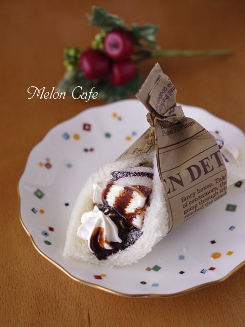 市販のアイスとクリームでチョコデザートサンドシナイッチ