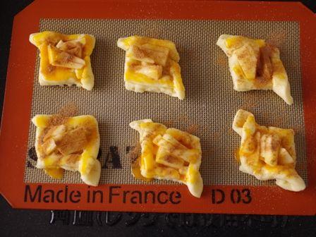 ホットケーキミックスで簡単デニッシュパンりんごシナモン09
