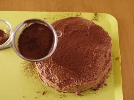 チョコレートのクリスマスケーキ07