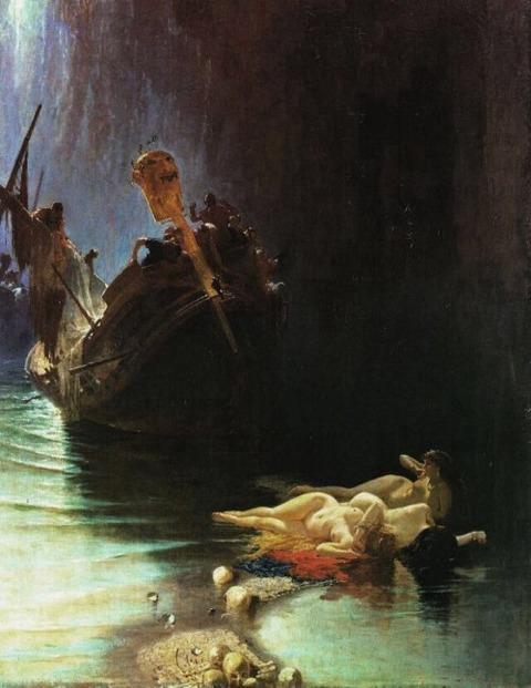 Legend of the Sirens - by Eduardo Dalbono, 19th century