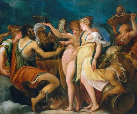 Andrea Schiavone (Andrea Meldola) 1550 Marriage