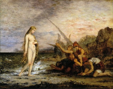 The Birth of Venus by Gustave Moreau 1866