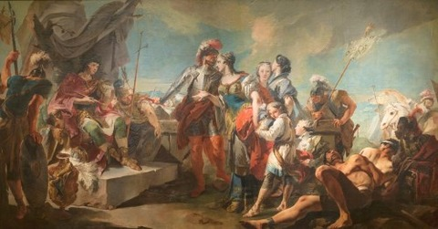 Tiepolo, Giambattista Zenobia before Emperor Aurelian 1717