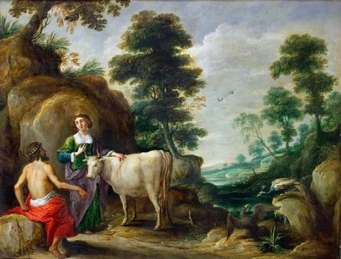 David Teniers I - Io cow, is handed to Juno by Jupiter 1638