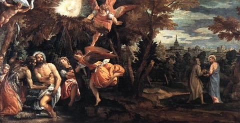 Baptism and Temptation of Christ, 1580 - 82  Paolo Veronese