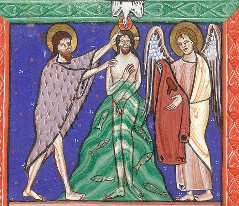 Baptism of Christ, BL Arundel England, 13th