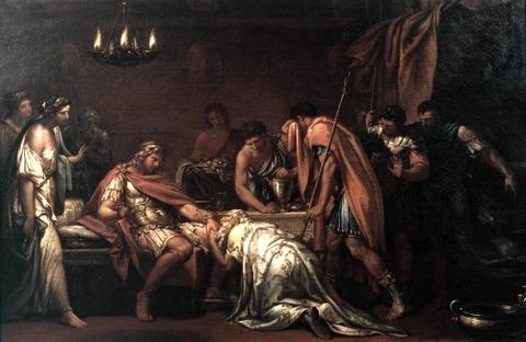 Gavin Hamilton Priam Pleading with Achilles for  Hector