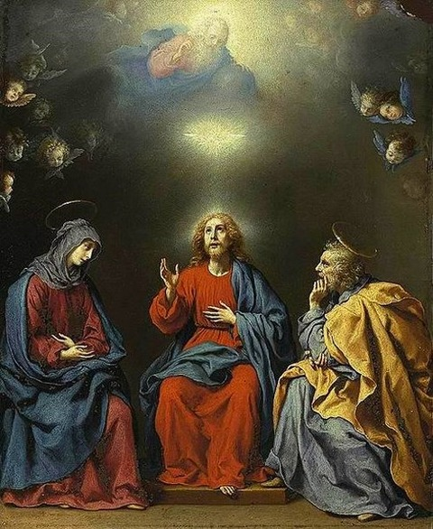 Carlo Dolci The Holy Family God the Father  Holy Spirit  1630