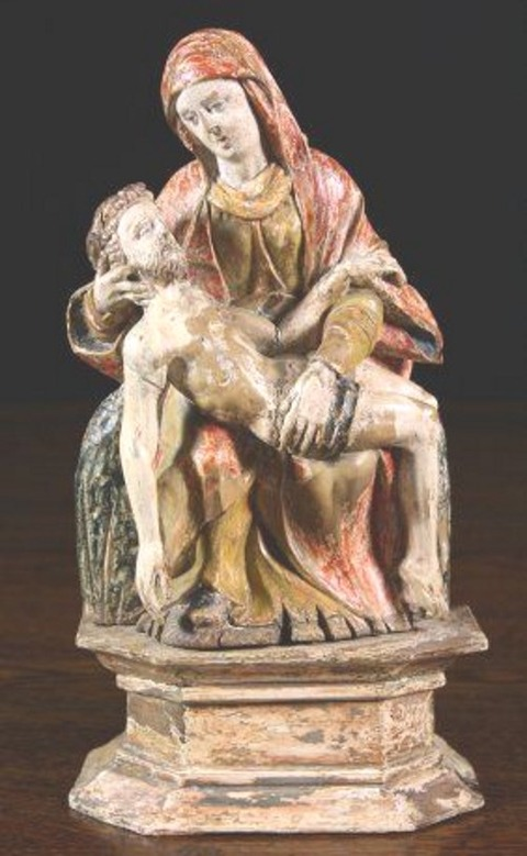16-17th Century Polychrome Pieta