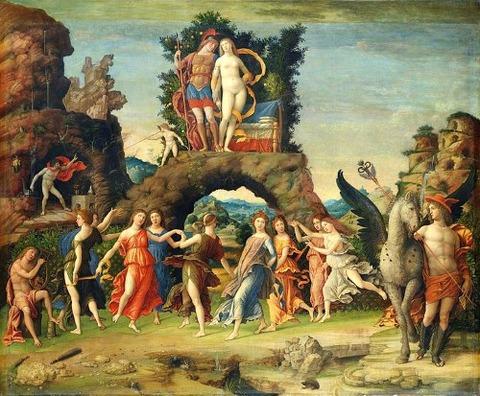 La Parnasse, by Andrea Mantegna 1496-7