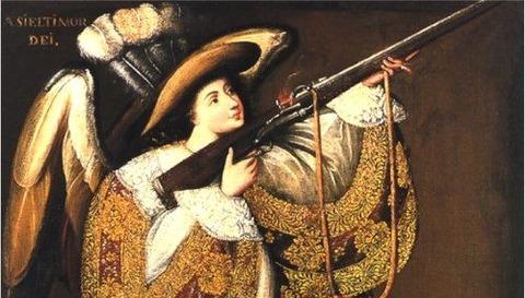 Angel with Arquebus,アシエル17th century