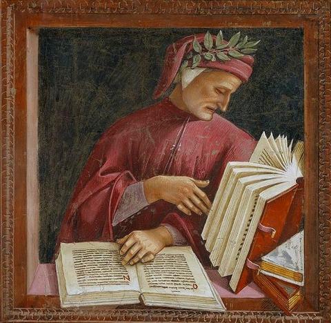 Luca Signorelli, Dante, affresco, 1499-1502