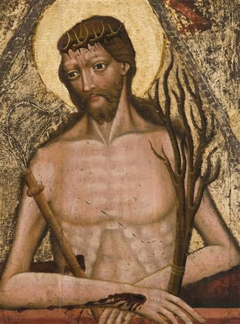 Christ as a Man of Sorrows Circa 1440  Bohemian School, 15th