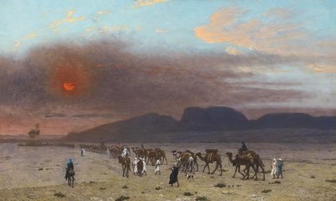 Jean-Léon Gérôme CARAVANE DANS LE DESERT