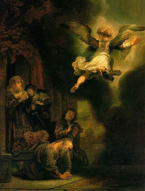 The Angel Raphael Leaving Tobit and his Family 1637