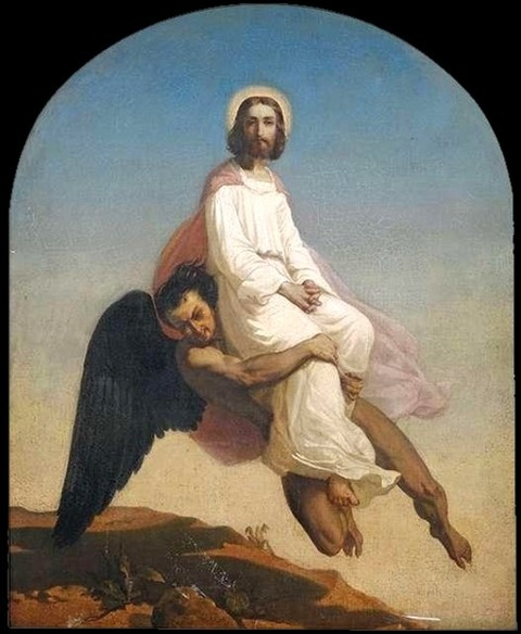 Anselm Feuerbach - Temptation of Christ, 1857