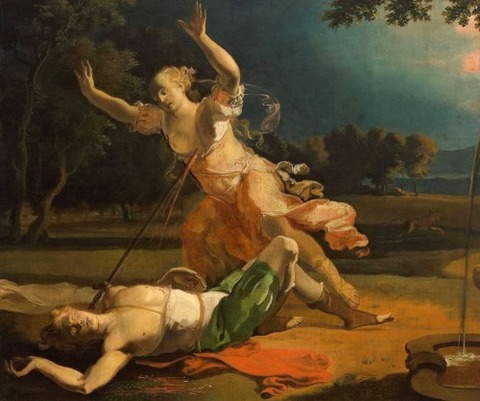 Abraham Hondius  Pyramus and Thisbe 1660-75