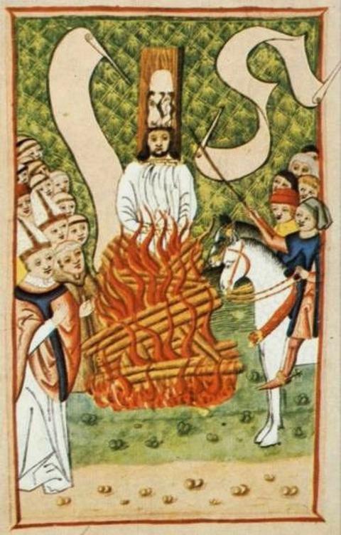 Jan Hus at the stake, Jena codex 1500