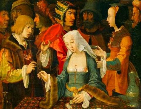 Lucas van Leyden Fortune-Teller with a Fool 1508-10
