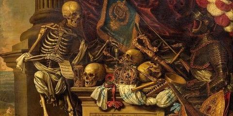 Memento mori painting by Carstian Luyckx -