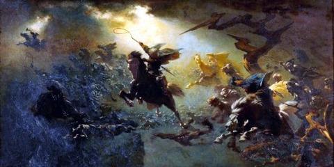 The Wild Hunt by Johann Wilhelm Cordes, 1856-7