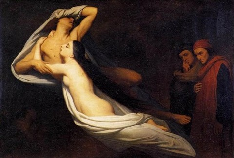 Ary Scheffer - The Ghosts of Paolo 1855