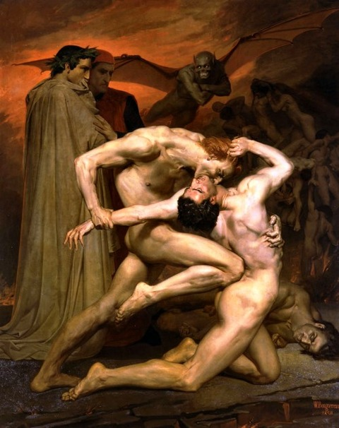 Dante & Virgil en el infierno by William Bouguereau