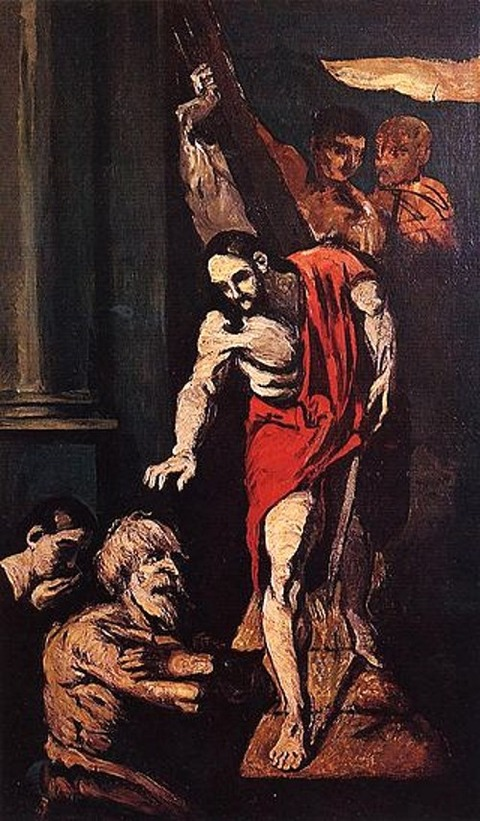 Christ-in-limbo- by cezanne 1867
