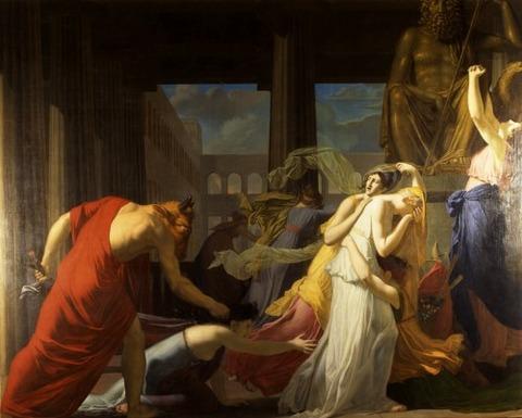 Jean-Baptiste Peytavin Seven Athenians Delivered  Minotaur, 1808