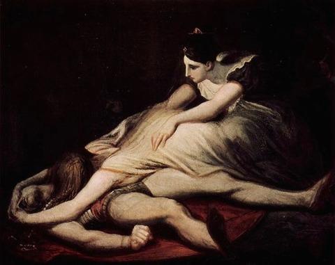 Johann Füssli Kriemhild wirft sich auf den toten Siegfried 1817