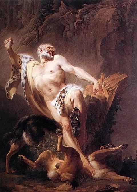 Suvée, Joseph-Benoit - Milo of Croton 1763