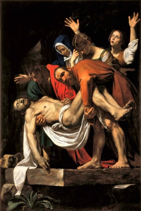 Caravaggio, Deposition from the Cross 1602-3