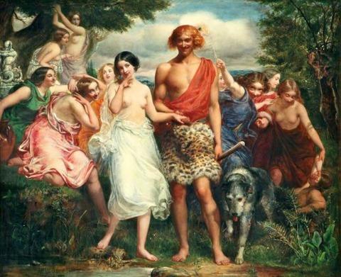 Sir John Everett Millais Cymon and Iphigenia  1847-8