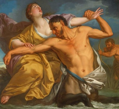 Italian School 18th  THE SLAYING OF NESSUS BY HERCULES