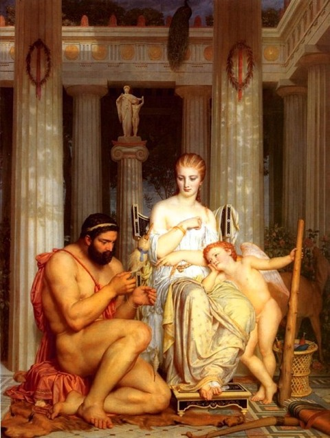 Marc Gabriel Charles Gleyre  Hercules and Omphale 1862