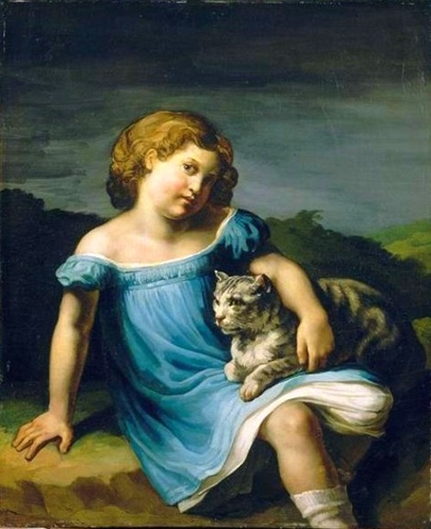 Portrait of Louise Vernet as a Child (1818-1819)