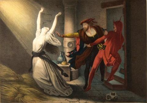 Joseph Fay Faust und Mephisto im Kerker 1848