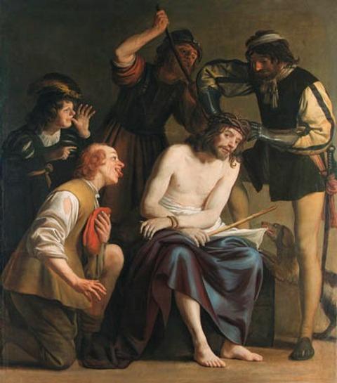 Studio of Gerard van Honthorst The Mocking of Christ