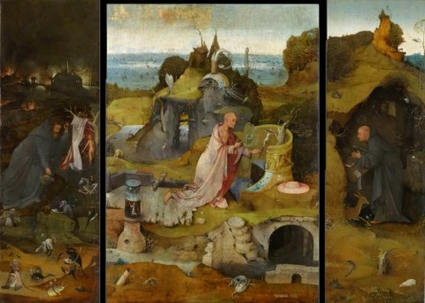 Bosch Hermit St Anthony Jerome and Giles 1495-1505