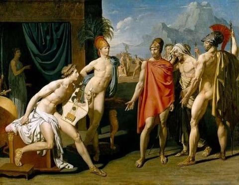 receives the envoys  1801 Jean Auguste Dominique Ingres