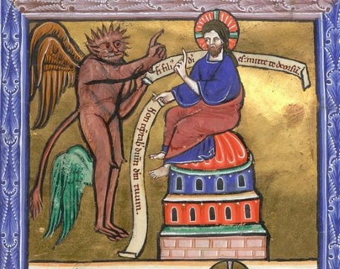 miniature of the Second Temptation of Christ