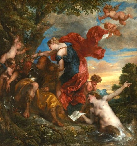 Armida discovers the sleeping Rinaldo by Anthony van Dyck
