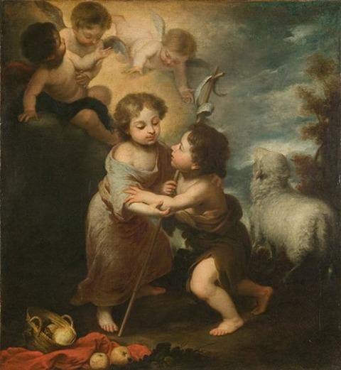 バルトロメ・エステバン・ムリーリョ《幼子イエスと洗礼者聖ヨハネ》