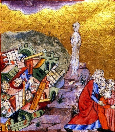 Sodom and Gomorrah The Golden Haggadah,  1320