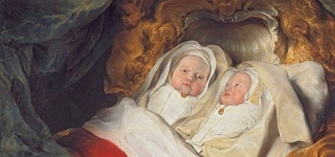 Portrait Twins Clara and Aelbert de Bray 1646 Salomon de Bray -
