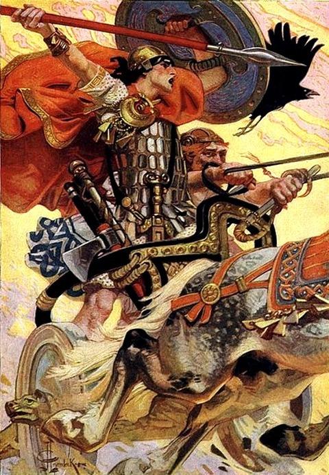 Joseph Christian Leyendecker Cuchulain in Battle 1911