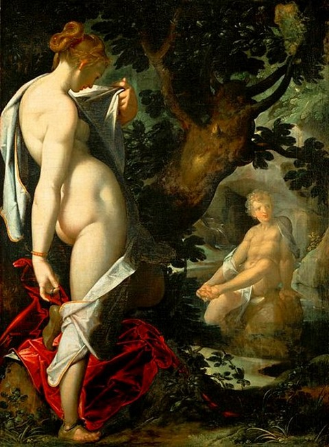 Hermaphroditos and Salmacis  Bartholomäus Spranger 1580-82